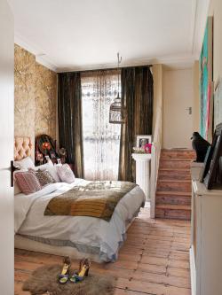 white bedroom design london wallpaper brown Interior Stairs decor elle