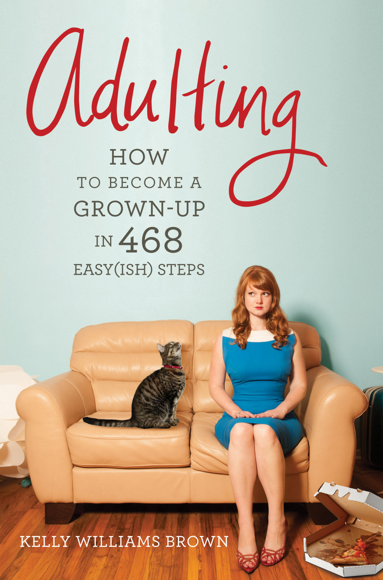 "ADULTING IS OUT TODAY! This is THE book to read if you're having a little bit (or a lot) of trouble transitioning from college life to REAL adulthood life. It's tough, but with Kelly's tips and how-to's in hand, you'll be ready to take on the world. Promise!  Book Description:   If you graduated from college but still feel like a student … if you wear a business suit to job interviews but pajamas to the grocery store … if you have your own apartment but no idea how to cook or clean … it's OK. But it doesn't have to be this way.Just because you don't feel like an adult doesn't mean you can't act like one. And it all begins with this funny, wise, and useful book. Based on Kelly Williams Brown's popular blog, ADULTING makes the scary, confusing ""real world"" approachable, manageable-and even conquerable. This guide will help you to navigate the stormy Sea of Adulthood so that you may find safe harbor in Not Running Out of Toilet Paper Bay, and along the way you will learn: What to check for when renting a new apartment-Not just the nearby bars, but the faucets and stove, among other things. When a busy person can find time to learn more about the world- It involves the intersection of NPR and hair-straightening. How to avoid hooking up with anyone in your office — Imagine your coworkers having plastic, featureless doll crotches. It helps. The secret to finding a mechanic you love-Or, more realistically, one that will not rob you blind. From breaking up with frenemies to fixing your toilet, this way fun comprehensive handbook is the answer for aspiring grown-ups of all ages."