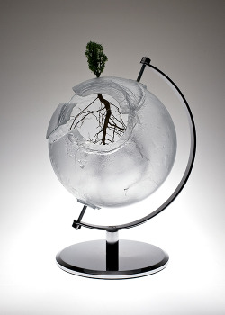 "Ione Thorkelsson ""Mundus adaptat""  (2010)  -  cast glass, lichen, found metal www.thorkelsson.com"