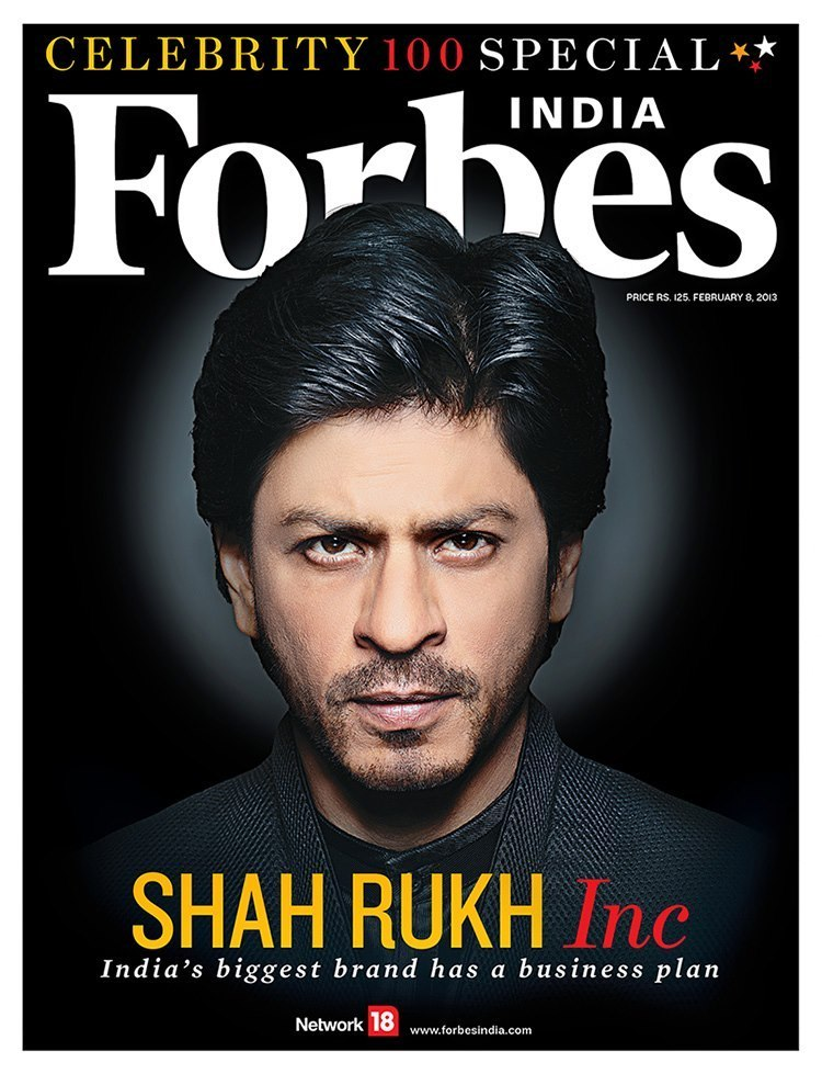 Shahrukh Khan. 1st Indian Actor ever to appear on the cover of Forbes Magazine.
