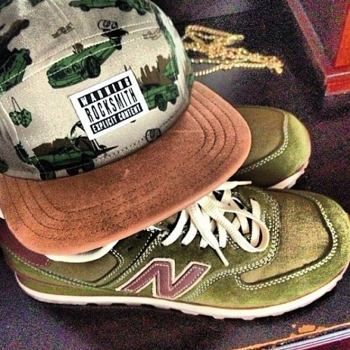 rocksmith:  Life style. Pop Tha Trunk camper cap. Suede brim. And some #newbalance green and spring like. #rocksmith (at www.rocksmithnyc.com)