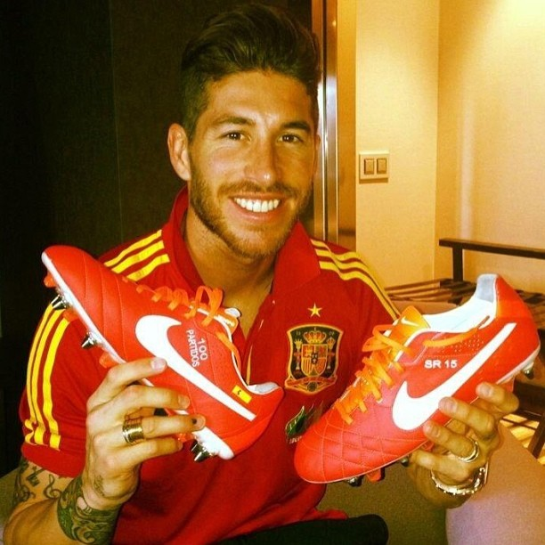 Happy Birthday Sergio Ramos! (oh and nice cleats)