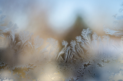 foxear:  Water that got frozen between our window panes