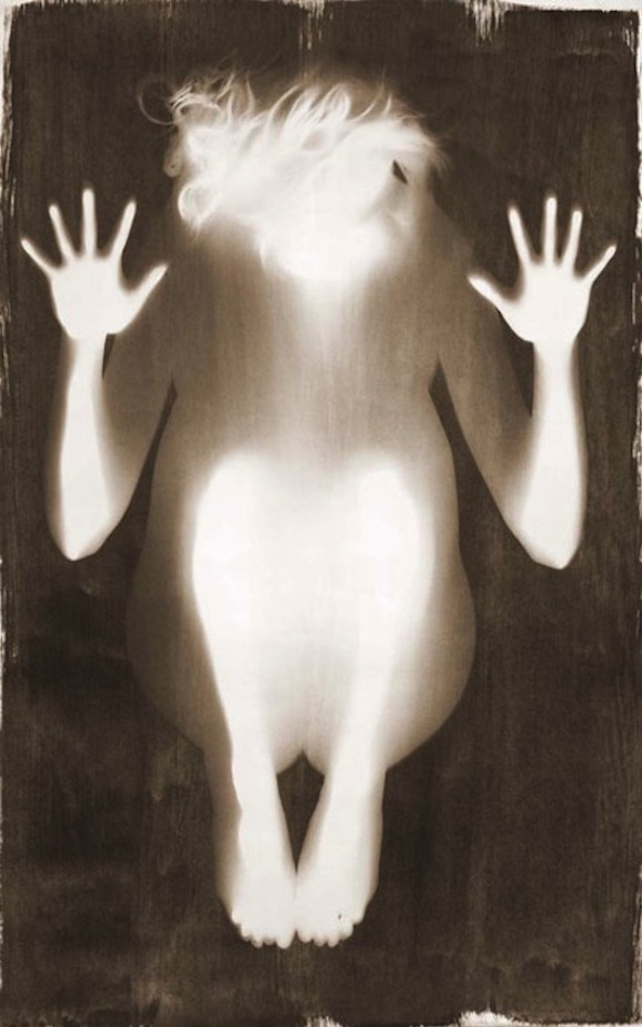 "harlow tighe ""Samsara"" from the series 'Radiant Bodies', 2008-2011 Lightbox from kallitype photogram"