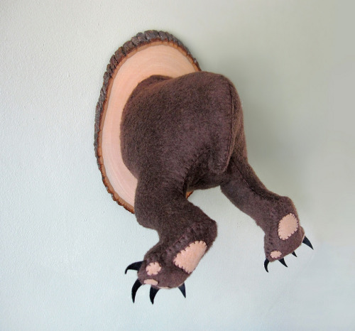 Mighty Grizzly Bear Butt, Backwards Faux Taxidermy - A.I.Creatures (by Anatomically Incorrect Creatures)