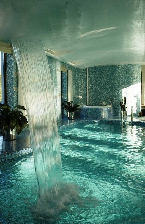 Indoor Waterfall, Moscow, Russia photo via anna