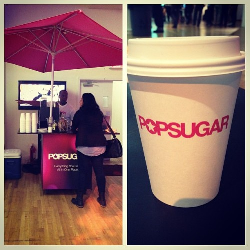 @popsugar is helping me start the morning right with their latte bar at #IWNY ☕