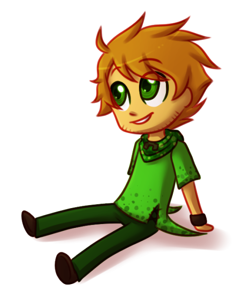 modof10th:  New chibi!Gavin drawing. And guys.  It's transparent.
