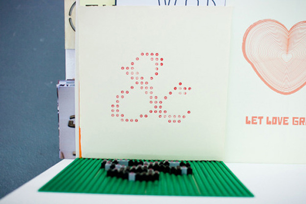 showmesomethingnewuk:  Scottish designer Levi created a lego letterpress that produces some pretty incedible stuff. The iconic dot ridges of the shapes produce a pretty cool effect on paper!                                                 Via       Tweet       Pin