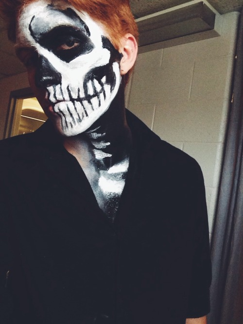 Halloween gay ginger pale pale gay skeleton