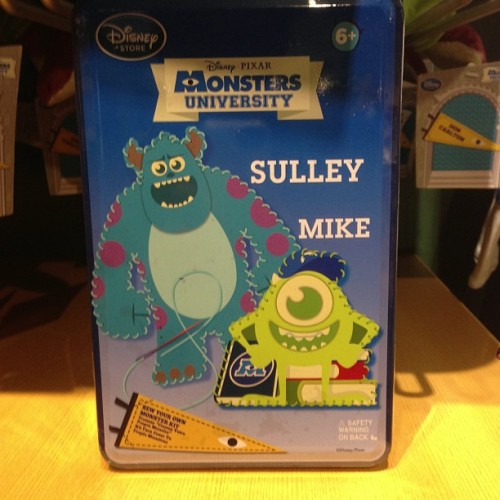 "Monsters University ""Sew Your Own Monster Kit"" at the Disney Store"