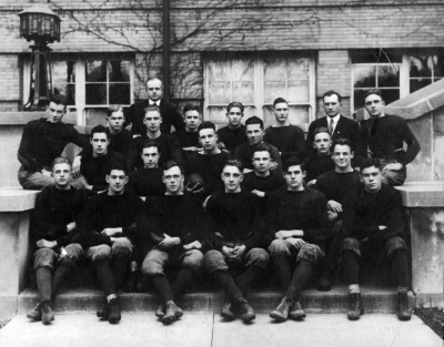 papa-issues:  Oak Park High School Lightweight Football Team, November 1915. Hemingway is Second from the Right in the Front Row.