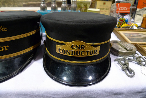 CNR Conductor hat on Flickr, seen at the Fraser Valley Antiques & Collectables Club show in New Westminster.