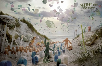 Stop the (plastic) invasion. Surfrider Foundation by Young & Rubicam Paris