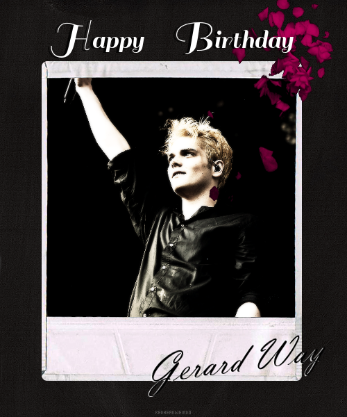 Happy 36th bday Gerard!