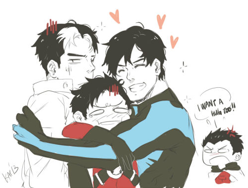 kai-chu:  The Bat boys ;u; i… miss… Tim. LOL saw a pic in tumblr and was inspired. Omg I'm obsessed. /so failing my exam tomorrow