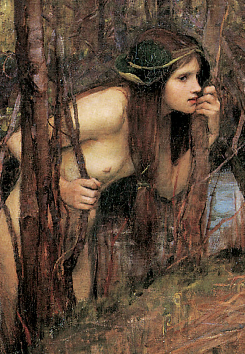 c0ssette:  John William Waterhouse,The Naiad,detail,1893.
