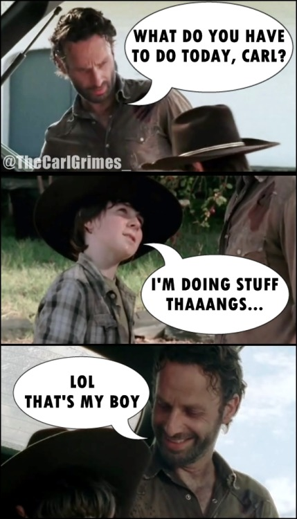 thecarlgrimes:  Like father, like son.