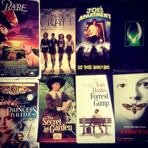 #new #movies #movienight #highlife #babe #princessbride #thecraft #aliens #forrestgump and a couple others.