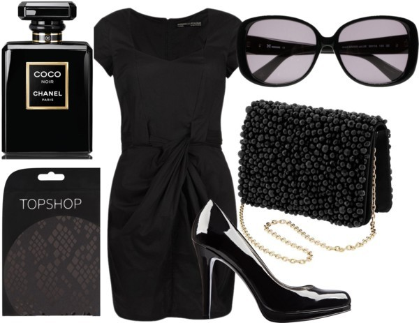 Black-on-Black by meljparrish featuring platform heels