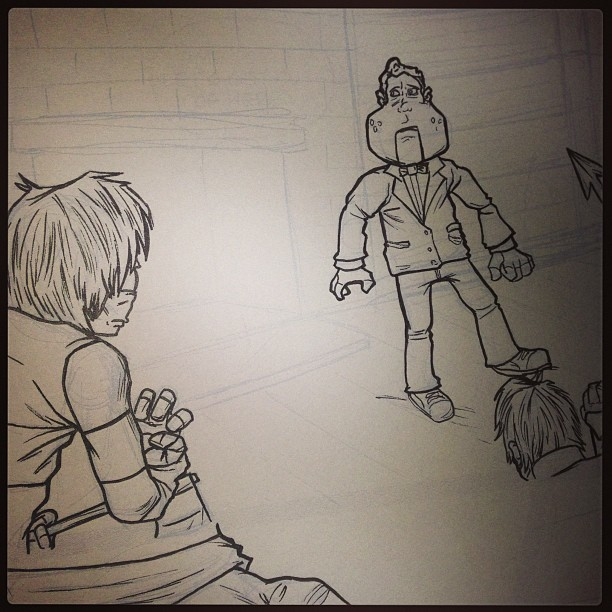 Back at it. #lt3 #littleterrors #creatorowned #makecomics