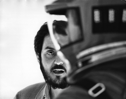Stanley Kubrick on the set of 2001: A Space Odyssey (1968). (Via)
