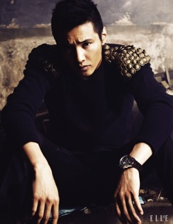 Won Bin in Elle August, 2010