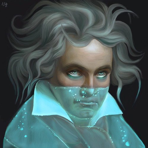 just-art:  Ludwig van Beethoven by Nicky Barkla Artist: Tumblr / Facebook./Deviantart