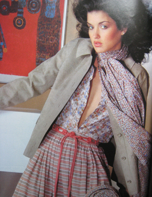 French Vogue April 1978 by Sew Something Vintage on Flickr.Via Flickr: Ebay Preview __________ Model: Janice Dickinson