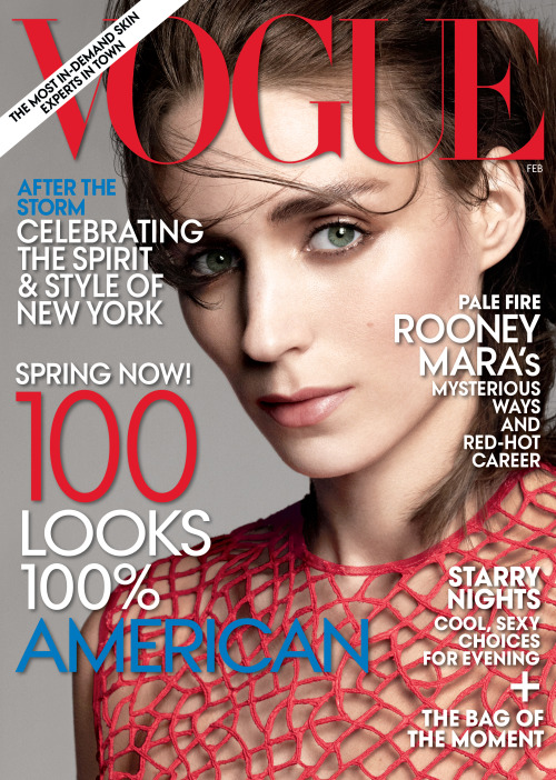 Rooney Mara by David Sims for Vogue US, February 2013