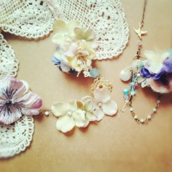#lolitasummer #accessories #jewelry #necklace #lace #flowers #pastel