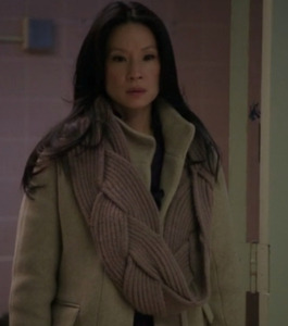Lucy Liu wearing a Kick Ass Scarf in Elementary! via Yarn-Zombie