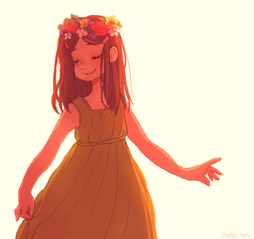 hikikomerri:  flower crowns and soft glowy lighting these are a few of my favorite things Sheena is such a minor character but she's pretty cute hey