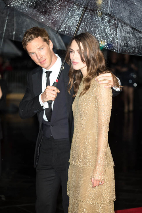 Benedict Cumberbatch and Keira Knightley attending the London premiere of The Imitation Game at the London Film Festival on Wednesday October 8, 2014.