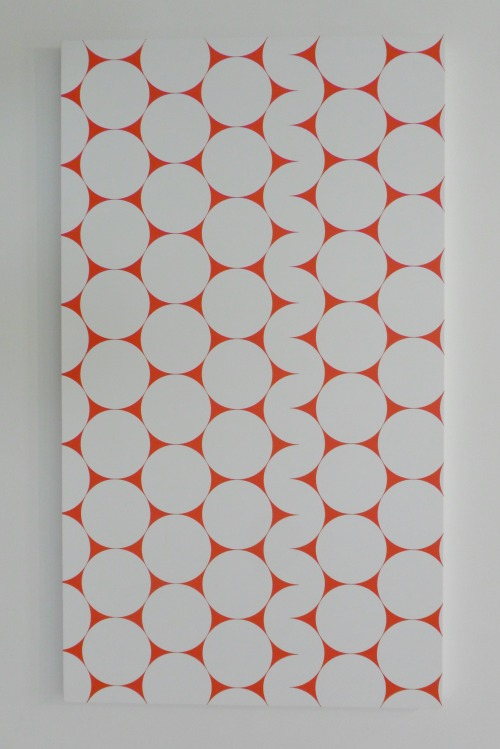 **52 x 4 No3** ( Blow up from Cercles et demi - cercles, 1952)  Acrylic on Canvas Francois Morellet - 2006 Ikon Gallery, Birmingham, England Taken with permission of the Ikon Gallery