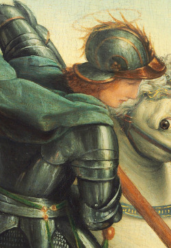jaded-mandarin:  Saint George and the Dragon - Raphael. Detail.