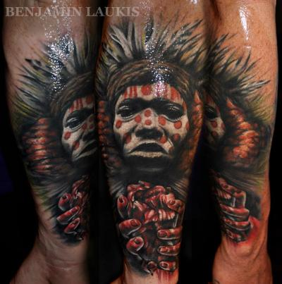 tattoo by Beniamin Laukis, from Pure Vision Tattoos, Melbourne, Australia,
