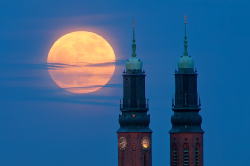 Eclipsed Moon over Stockholm