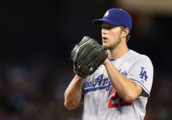 Kershaw's scoreless-innings streak ended at 23 last night. Time to start a new one. #AWholeNewBlue
