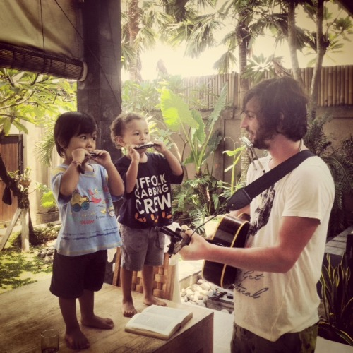 Jamming with the locals in Bali!
