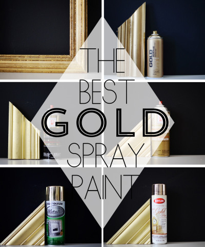 excellenceasahabit:  I found this post on finding the best gold spray paint on Cupcakes and Cashmere yesterday. Thought I'd share for all of my fellow DIY'ers out there who like a little extra sparkle.   Well, we know I'll be needing this in the very near-term future!