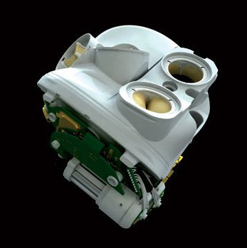 Artificial heart ready for human trials. French company CARMAT have announced that their artificial heart is scheduled to be implanted into patients in four medical centers around the world. The device completely replaces the patient's original heart. The artificial heart consists of two cavities, mimicking the organ's ventricles, which are separated by a moving membrane that's hydraulically powered via a special actioning fluid. This membrane reproduces the action of the ventricular wall during contractions, creating blood flow in and out of the device. The system is works in conjunctions with sensors and a microcontroller that continuously adjust the activity of the prosthesis to match the needs of the patient.