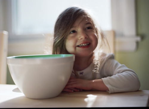 +Happy Morning in the Kitchen  Via Mamiya 645 w/ portra 400