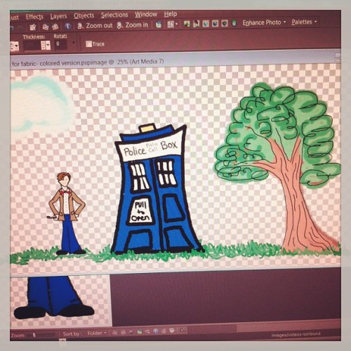 Updating stuff and things. #doctorwho #tardis #fabric #toile