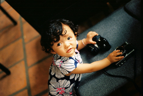 Pearl w/ film cameras on Flickr.Via Flickr: • Camera: Nikon FM • Film: Kodak Ultra Max 400 • Popular interesting | Blog | Tumblr
