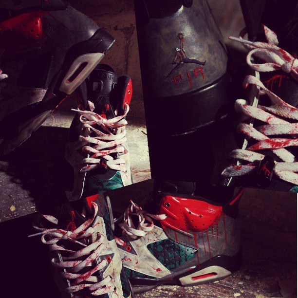 #Airjordan #6 #Costom #Jason #Sneakers By @elcappy