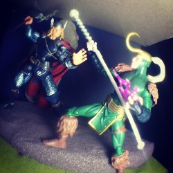 comicbooksexlife:  Thor vs Loki #marvel #thor #loki #actionfigures