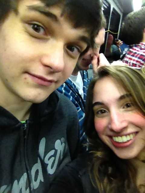 Love this boy a lot. Even more than the dude in the background. #drunkbus