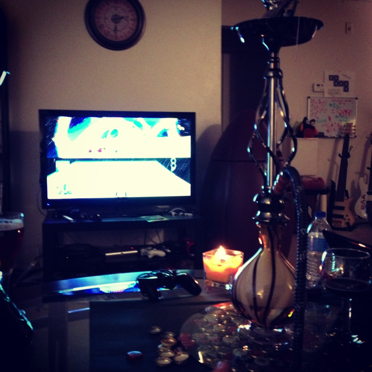 How is everyone this Tuesday night? Rainbow Road and some hookah tonight,