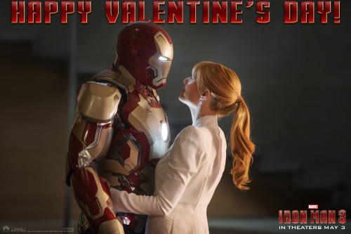 Tony and Pepper! via marvelentertainment:  Happy Valentine's Day from Marvel's Iron Man 3!